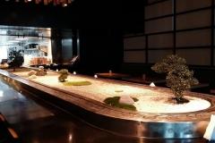 Mini Zen Garden in Japanese Restaurant